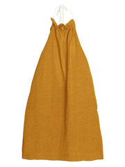 Large Image of LCF Linen Halter Dress Safran *Must Have!*