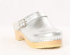 Metallic Swedish Clogs W/Back Strap *DIVINE*