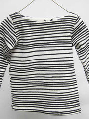 Large Image of Noe & Zoe Berlin Striped Knit Sweater Black