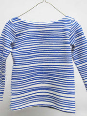 Large Image of Noe & Zoe Berlin Striped Knit Sweater Blue