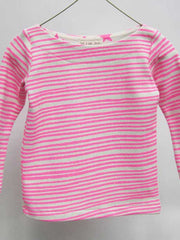 Large Image of Noe & Zoe Berlin Striped Knit Sweater Pink