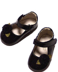 Large Image of Pazitos Black Leather Mary Janes SOLD OUT