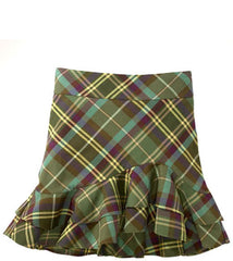 Large Image of Ralph Lauren Twill Plaid Skirt