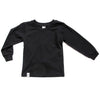 POP UP SHOP Organic Long Sleeve Top Black