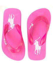 Large Image of Ralph Lauren Big Pony Flip Flop Pink