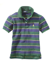 Large Image of Ralph Lauren Striped Polo Green/Yellow