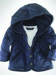 Large Image of Ralph Lauren Baby Quilted Jacket Navy *ADORABLE*
