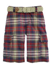Large Image of Ralph Lauren Madras Shorts Red