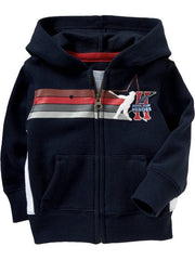 Large Image of Old Navy Sports-Graphic Zip Up Navy