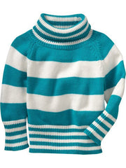 Large Image of Old Navy Striped Sweater Blue