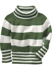 Large Image of Old Navy Striped Sweater Green