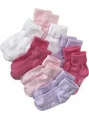 Large Image of Old Navy 8pair Grip Socks Multi
