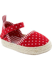 Large Image of Old Navy Polka-Dot Espadrilles Red