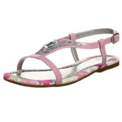 Large Image of Bibi Pink Leather Rhinestone Sandal