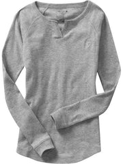 Large Image of Old Navy Heart Sleep Top Heather Grey