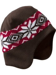 Large Image of Old Navy Fair Isle Hat Red