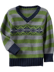 Large Image of ON Fair Isle Sweaters Green