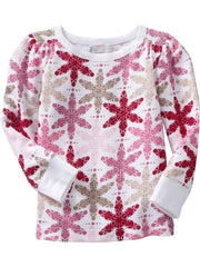 Large Image of Old Navy Waffle-Knit Tees Pink Stars