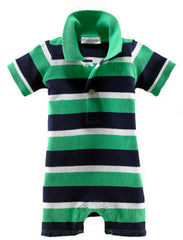 Large Image of Ralph Lauren Striped Green Shortall