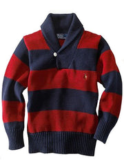 Large Image of Ralph lauren Shawl Collar Sweater Red