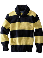 Large Image of Ralph Lauren Shawl Collar Sweater Yellow