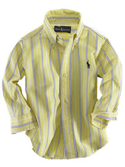 Large Image of Ralph Lauren Oxford Stripe Shirt Yellow