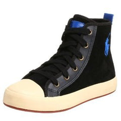 Large Image of Ralph Lauren Suede Hi-Top Black