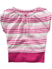 Large Image of ON Striped Keyhole Top