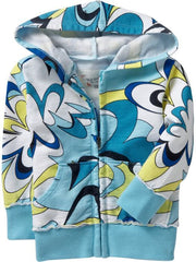 Large Image of Old Navy Swirl Print Blue Hoodies
