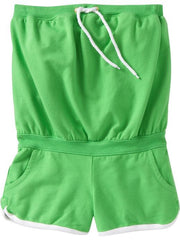 Large Image of Old Navy Terry Halter Jumpsuit Lime