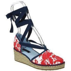 Large Image of Tommy Hilfiger Wedge Espadrille Red