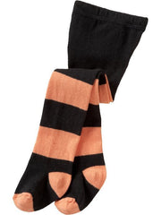 Large Image of Old Navy Tights Orange Stripe
