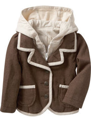 Large Image of ON 2-in-1 Hoodie Blazer Chocolate
