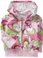 Large Image of Old Navy Swirl Print Pink Hoodies