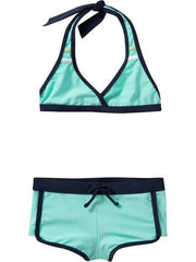 Large Image of Old Navy Halter Turquoise Bikinis