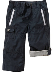 Large Image of Old Navy Twill Roll-Up Pants Navy