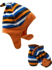 Large Image of Old Navy Fleece Hat & Mitten Sets Orange