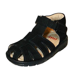 Large Image of UMI Ritzzi Suede Fisherman Sandal Navy