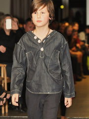 Large Image of Shampoodle Organic Denim Shirt *love it*