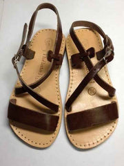 Large Image of Theluto France Leather Sandal Dark Chocolate *Oh My!*