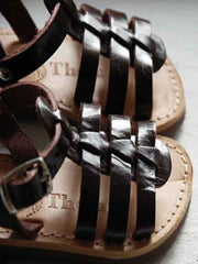Large Image of Theluto France Fisherman Sandal Dark Chocolate *Exquiste!*
