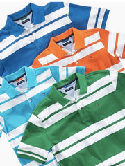 Large Image of Tommy Hilfiger Kids Striped Polo - 2-14yrs - See More Colours