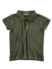 Large Image of Yporqué Spain Washed Out Polo Green *LOVE! LOVE!* 6-16yrs