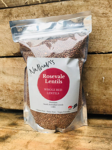 Rosevale Lentils ~ Whole Red Lentils 1.5kg