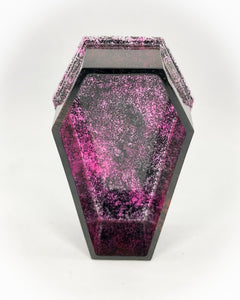 Coffin Box(Pink & Black Translucent Glitter w/o Top)