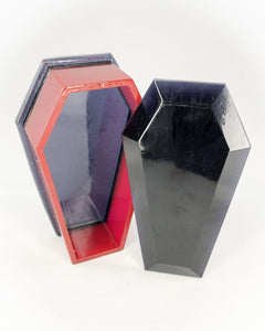 Coffin Box(Black& Red Translucent w/ Top)