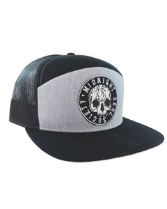 """Face Splitter"" Trucker Hat(Black/Grey)"