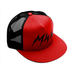 Black/Red Lightnin' Trucker Hat
