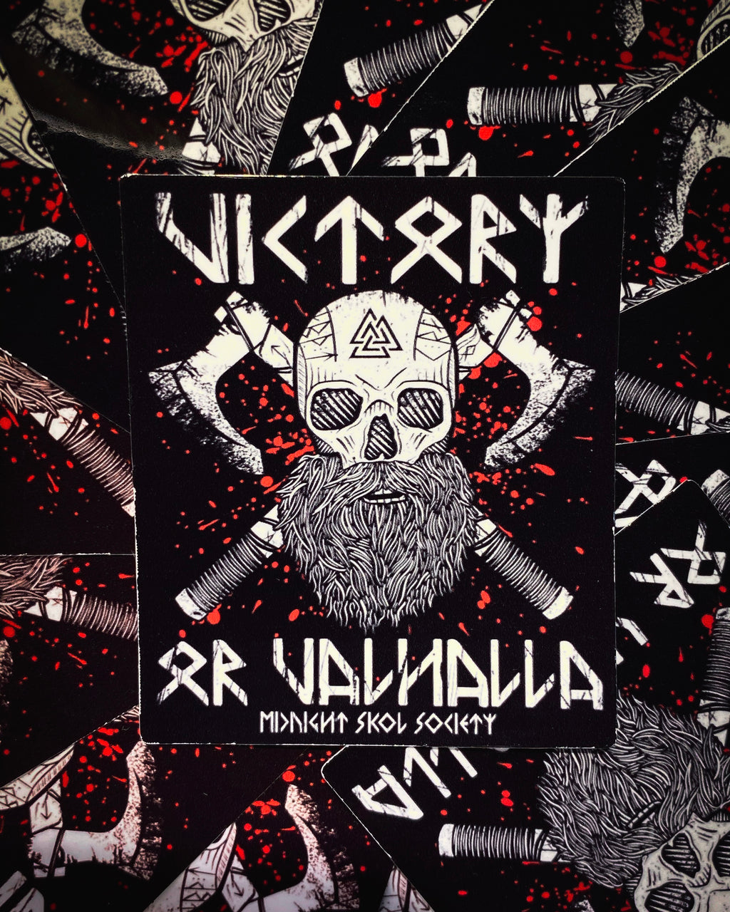 """Victory Or Valhalla"" Sticker"