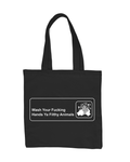 """Wash Your F*cking Hands"" Tote Bag(PRE-ORDER)"